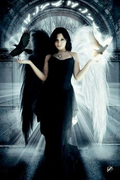 Dark fantasy art IDEA: a flying angel with her arm/s inline with a wing/ the wings - this creates a powerful, sexy look. Description from… Dark Angels, Fallen Angels, Angels Among Us, Angels And Demons, Fantasy World, Fantasy Art, Gothic Angel, Ange Demon, Angel And Devil