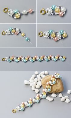 Wanna the colorful pearl bracelet?The tutorial will be published by LC.Pandahall.com soon.