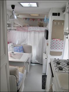 such cute touches added to the makeover of a motorhome/RV