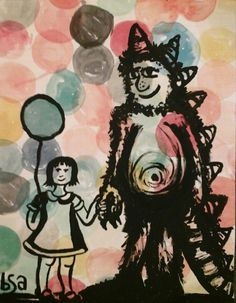 A personal favorite from my Etsy shop https://www.etsy.com/listing/207703966/me-my-monster-and-a-balloon
