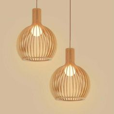 99.00$  Watch now - http://ali7hl.worldwells.pw/go.php?t=32701502965 - Modern Led Wooden Pendant Lights Minimalist Cage Home Furnishing Decorative pendant Lamp for dining room bar indoor lighting
