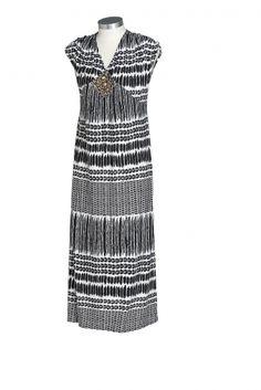 0  0  Plus Size Women's Fashion - Sara Print Maxi Dress By EziBuy