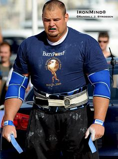 Brian Shaw, World's Strongest Man, 2012. With his grimacing scowl and menacing posture, he is a human behemoth.