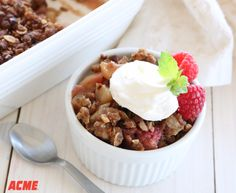 Easy Apple Berry Crisp- This crisp has all the comfort and flavor you crave but is made with whole grains and less sugar. If you use canola oil for the oat topping, it's a vegan dessert!