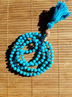 Excited to share the latest addition to my #OMalaLove #etsy shop: Blue jade mini mala. http://etsy.me/2ClQZt9 #jewelry #bracelet #mala #handmade #buddhism #gemstone #necklace #guru #mediation