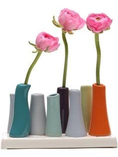 Chive, Pooley 2, 8-Tube, Orange  Vase ❤ Chive (Home Decor)