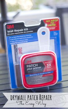 Jacque & Matt show you how to do drywall patch repairs the easy way using 3M's Wall Repair Kit.