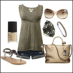 A fashion look from May 2012 featuring Odd Molly tops, Hollister Co. shorts and Call it SPRING sandals. Browse and shop related looks.