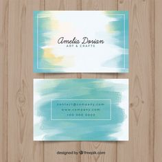 Art Business Cards, Watercolor Business Cards, Free Business Card Templates, Business Flyer, Brochure Design, Flyer Design, Corporate Design, Design Design, Graphic Design Posters