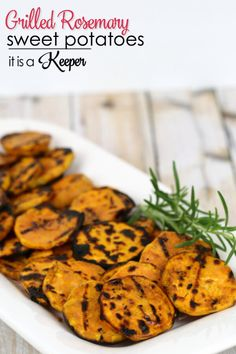 Grilled Rosemary Sweet Potatoes - this is an easy and healthy summer recipe