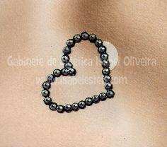 Decoração Corporal - Coração. Sexy Lingerie, Body Art, Crystals, Heart, Bracelets, Jewelry, Game Of Life, Swarovski Crystals, Tattoos