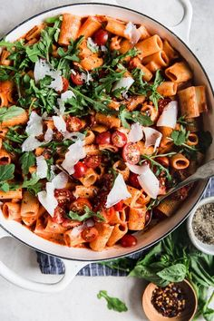 Pasta with Creamy Parmesan Tomato Sauce on the feedfeed