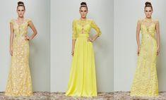 vestido de festa 2016 amarelo