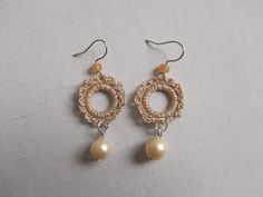 saraccino: Crochet earrings