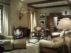 beautiful living room by Ralph Lauren in NY. Want to do my basement like this
