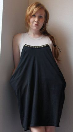 Tshirt and tank into a dress.