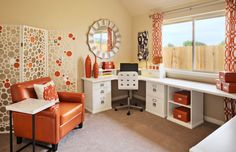 #Modern #Office Red and White design & decor