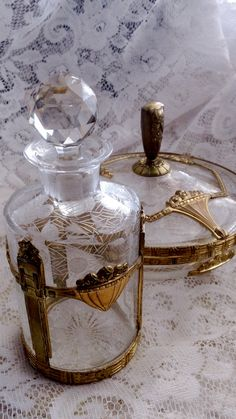 French Crystal Dresser Set