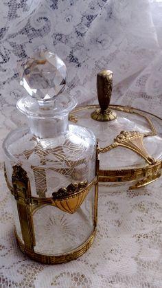 French Crystal Dresser Set