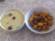 Mor kulambu with baby potatoes roast