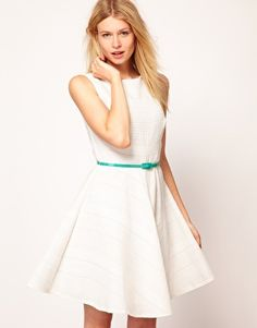 Enlarge Oasis Fit And Flare Dress With Belt
