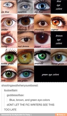 More/different eye colors