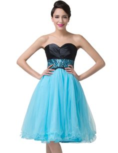 dfe6aea1a8530 Grace Karin Womens Womens Strapless Tulle Ball Cocktail Evening Prom Party  Dress Tulle Balls, Prom