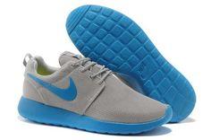 c225b30c8da1 Official Site Nike Roshe Run Junior Mens Gray Light Blue Premium Nike Roshe  Trainers, Nike