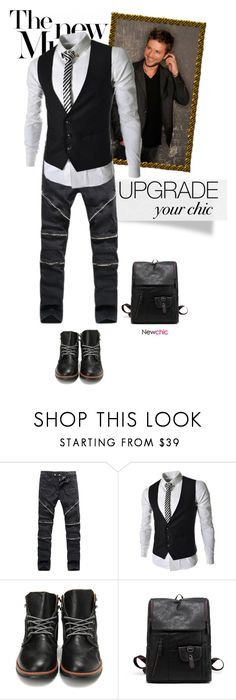 """""""2.5  upgrade your chic newchic"""" by wannanna ❤ liked on Polyvore featuring men's fashion and menswear"""