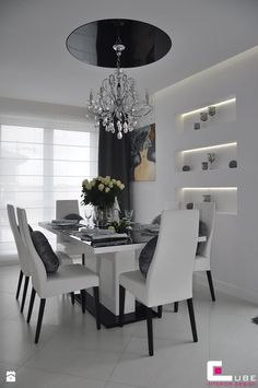 Mieszkanie Białołęka, Warszawa - Jadalnia, styl glamour - zdjęcie od CUBE Interior Design
