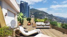 Terrace in Monaco