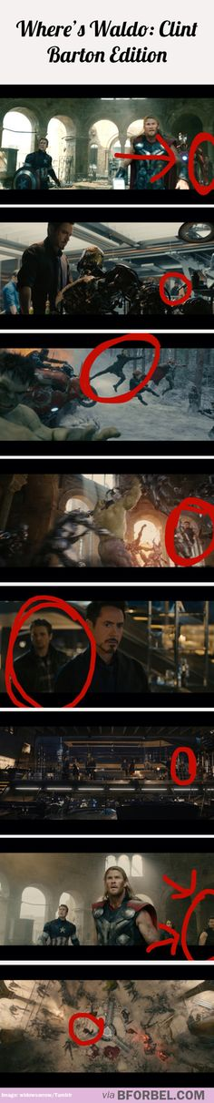 He actually did get a lot more screen time in AOU, though.