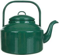 Falcon Enamel Tea Kettle, Falcon Green