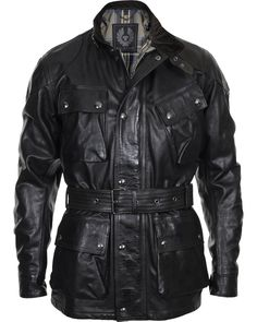 Belstaff Panther Leather Jacket Antique Black i gruppen Jackor hos Care of Carl AB (10525211r)