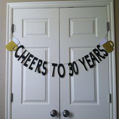 Cheers to 30 years Birthday Banner by WeddingWishlist on Etsy
