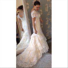 Última prova da nossa noivinha Katia Santos! Wedding Dress Atelier Carla Gaspar.
