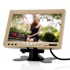 HD car monitor,7inch  800*480 RGB TFT-LCD Car Headrest monitor with 2 video input