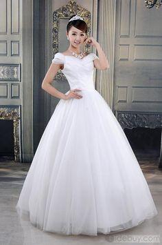 US$215.99 Amazing Ball Gown Floor-length Off-Shoulder Wedding Dress. #Dresses #Dress #Ball #Gown