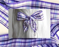 Etsy :: Your place to buy and sell all things handmade Hair Ribbons, Ribbon Hair, Hair Bows, Purple Accessories, Natural Shapes, Bad Hair Day, Shades Of Purple, Girl Hairstyles, Boho Chic