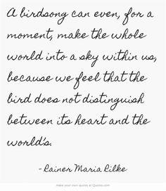 Rilke gedicht blatter fallen