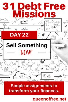 A tip for a simple 1 hour debt free mission to increase your income by selling items. Great ideas for what to sell, where to sell it, and how to price it to move!