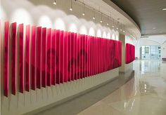Changeable Graphic Wall Fins | Friday Institute #theoffice #creative