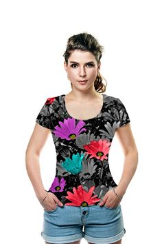 #grayshades #black #grayflowers #purpleflowers #pinkflowers #blueflowers #flowers #flowershirt #fieldofflowers #shadesofgray #ladiesshirt #tshirt #shirt #fashion #Oarttee