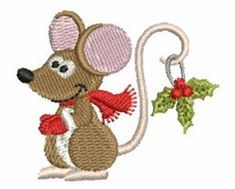 Mini Christmas Mice 1 | What's New | Machine Embroidery Designs | SWAKembroidery.com Ace Points Embroidery