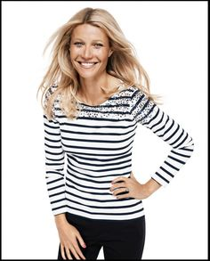 Gwyneth Paltrow testimonial della collezione p/e 2012 di Lindex: preppy style! | Modalizer