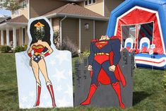 Melissa T's Birthday / Police Party, Super Hero - Photo Gallery at Catch My Party Superhero Party Activities, Superhero Birthday Party, 6th Birthday Parties, Boy Birthday, Wonder Woman Birthday, Wonder Woman Party, Party Props, Party Themes, Party Ideas