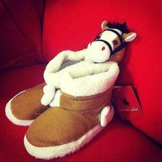 Kids Thomas Cook  Unisex Fur Boot Pony Slipper, Size 6, 8, 10, 12