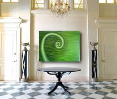 """Green Vine"" Original Acrylic Painting on Canvas by Michelle Durell / Durell Studio"
