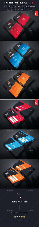 Business Cards Bundle Template PSD #design Download: http://graphicriver.net/item/business-cards-bundle/13542346?ref=ksioks