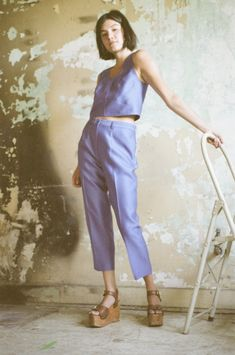 A look from Chelsea Mak's Spring 2020 collection. Hire A Band, Her Cut, Stand Up Comedy, Sustainable Clothing, Creating A Brand, Girls Be Like, Fast Fashion, Short Film, Grosgrain